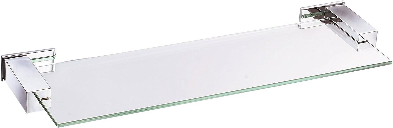 Danze D446134 Sirius 18-Inch Glass Shelf, Chrome