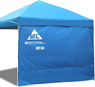MASTERCANOPY Sunshield Side Wall Instantly Attaches to Any 10x10ft Straight Leg Pop Up Instant Canopy Tent(10ft,  Blue)