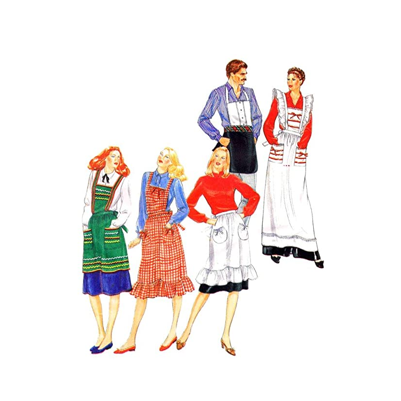1980s Unisex Aprons Butterick 4066 Vintage Sewing Pattern