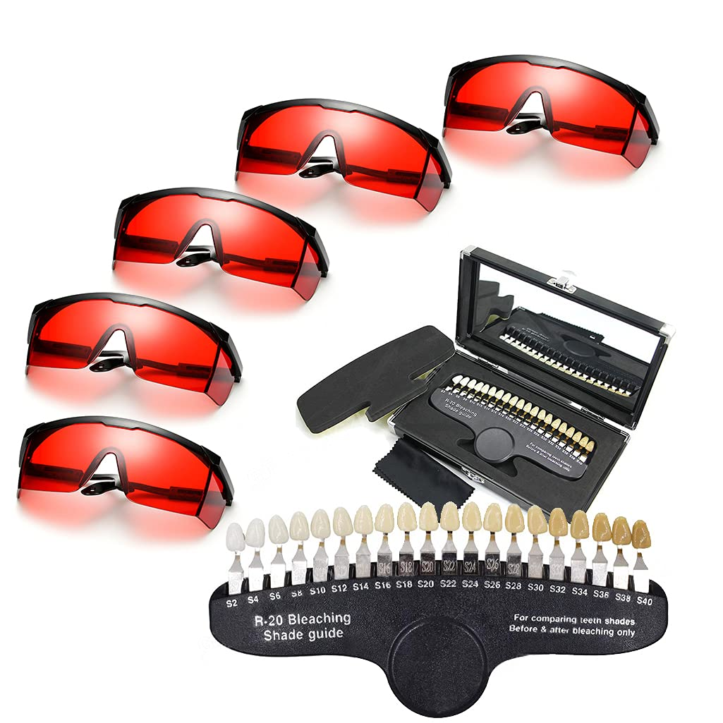 5PCS cheap Dental Red Eye A surprise price is realized Protection Teeth R20 Glasses Shad and