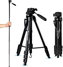 BAALAND Camera Tripod 20-70 Inch Lightweight Aluminum Compact Travel Tripod for Nikon Canon DSLR Video Camera 11LBS MAX Load with Bag