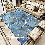 ZHAOPAI alfombras Modernas Bebé Escalonado del diseño del Modelo del Arco Que se arrastra, Alfombra Impermeable, Respirable, Lavable Alfombra Antideslizante ba?era -Azul_El 180x280cm