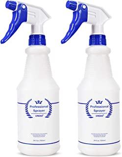 Bealee Plastic Spray Bottle 2 Pack, 24 Oz, All-Purpose Heavy Duty Spraying Bottles Sprayer Leak Proof Mist Empty Water Bot...