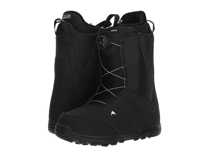 Burton  Moto Boa Snowboard Boot (Black) Mens Cold Weather Boots