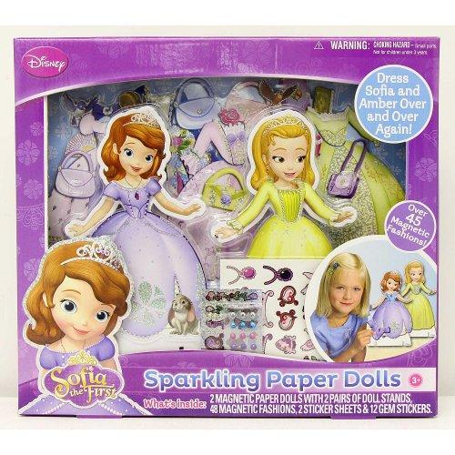 Disney Sofia the First Sparkling Paper Dolls by Tara Toys