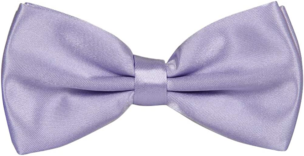 Men's bow ties Solid Formal Pre-tied Bow Ties for Wedding Party Fancy Plain Adjustable Bowties Necktie