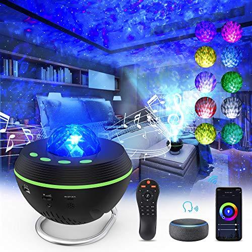 Galaxy Star Night Light Projector for Kids Bedroom, 5 in 1 LED Laser Starry Star Light Projector with Smart App, Alexa, Bluetooth & Timer, Remote & Voice Control Sky Lights Projector for Kids, Adults