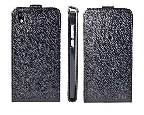 caseroxx Flip Cover & Bildschirmschutzfolie für Medion Life X5004 MD 99238, Set (Flip Cover in schwarz)