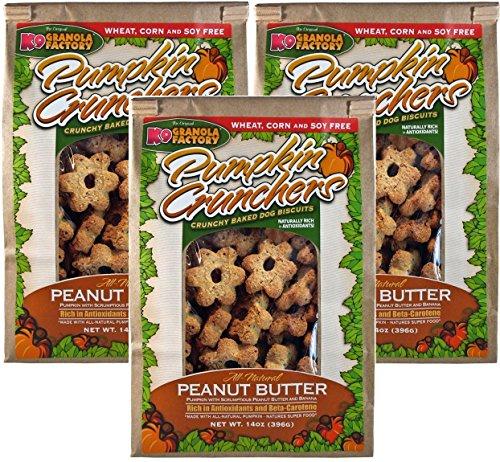 (3 Pack) Pumpkin Crunchers Dog Treat Peanut Butter and Banana, 14 Ounces each