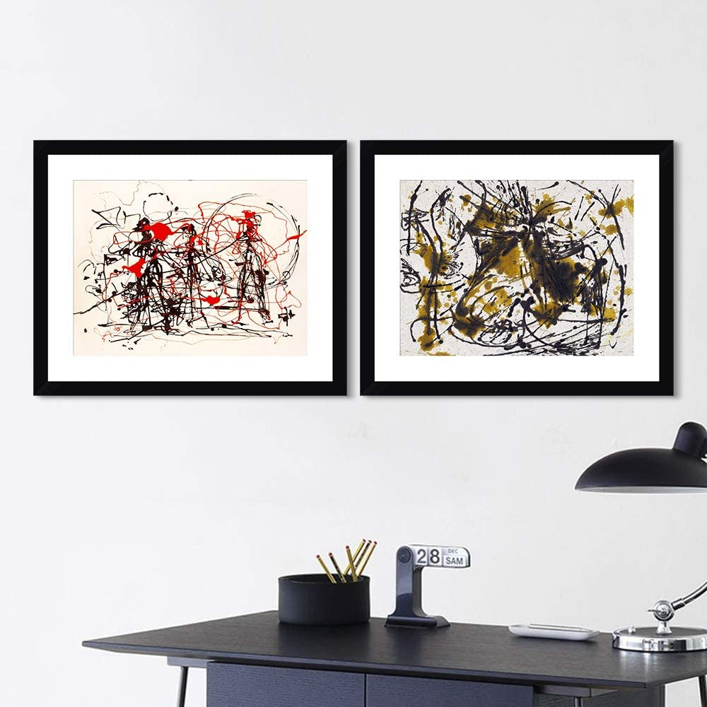Framed Canvas Giclee 在庫あり Print Art Combo Pieces by 売れ筋ランキング Painting 2 Jackso