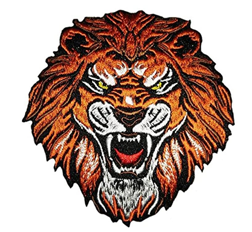 Iron on roar tiger patch sew on applique embroidered patches appliques for clothes (Small, Multicolored 3)