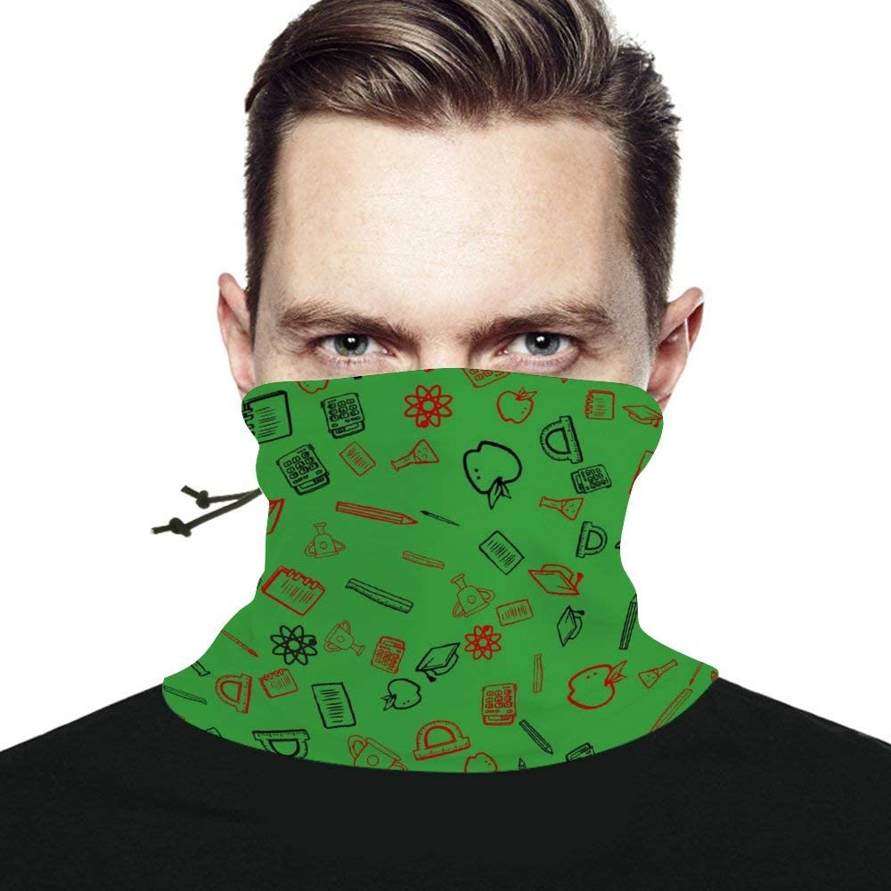 School Things Unisex Winter Neck Gaiter Warmer Scarf Windproof Multifunctional Face Mask Bandana Reusable for Cold Weather Skiing Running Outdoor Sports
