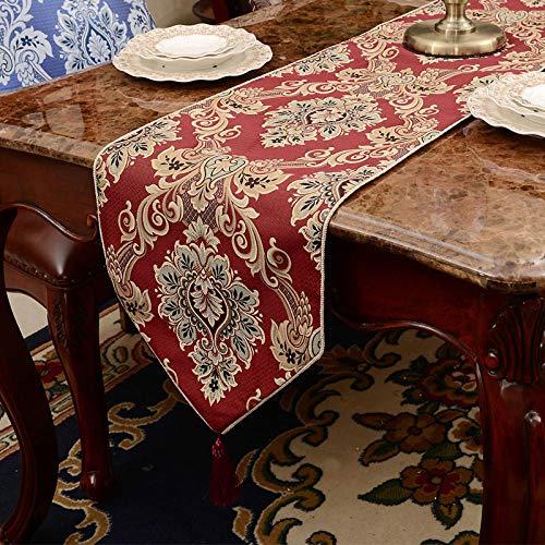 Branfan tafellopers handdoekenset drie kleuren optioneel/koffiekleur/rood/beige - beige tafellopers 34x240cm tafellopers
