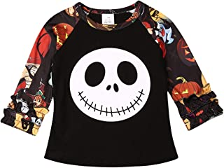 Infant Halloween Outfits T-Shirt Pants Skeleton Print Halloween Romper Clothes Set for 0-6T Boy Girl