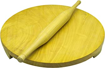 RAJ Rolling Board with Pin-Chakla Belan, WMC001, Brown, 11 inches, Wood