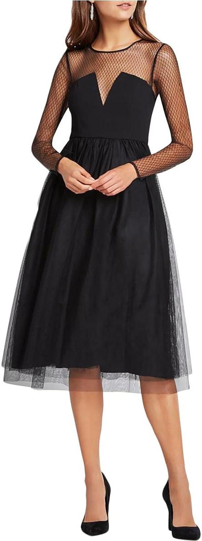 BCBGeneration Womens Mesh Tulle Skirt SemiFormal Dress