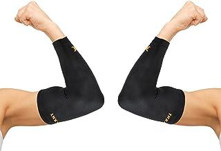 آستین فشرده سازی آرنج Thx4 مس (1 جفت) - شماره 1 پشتیبانی تزریق شده مس - تضمین بهبود ضخامت مس برنج آرنج برای ایده آل برای تمرین ، ورزش ، گلف باز ، تنیس آرنج ، آرتروز ، تاندونیت بزرگ