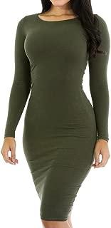 Women's Knitting Sexy Casual Long Sleeve Short Dress