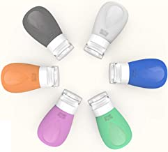 Cosytime 3 oz Travel Bottles,(6-Pack) BPA Free And TSA Approved Silicon Travel Bottles