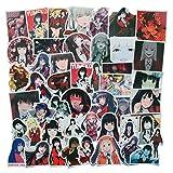 50PCS Cartoon Japanese Anime Kakegurui Stickers Lovely Sticker Laptop Computer Bedroom Wardrobe Car Skateboard Motorcycle Bicycle Mobile Phone Luggage Guitar DIY Decal (kakegurui)