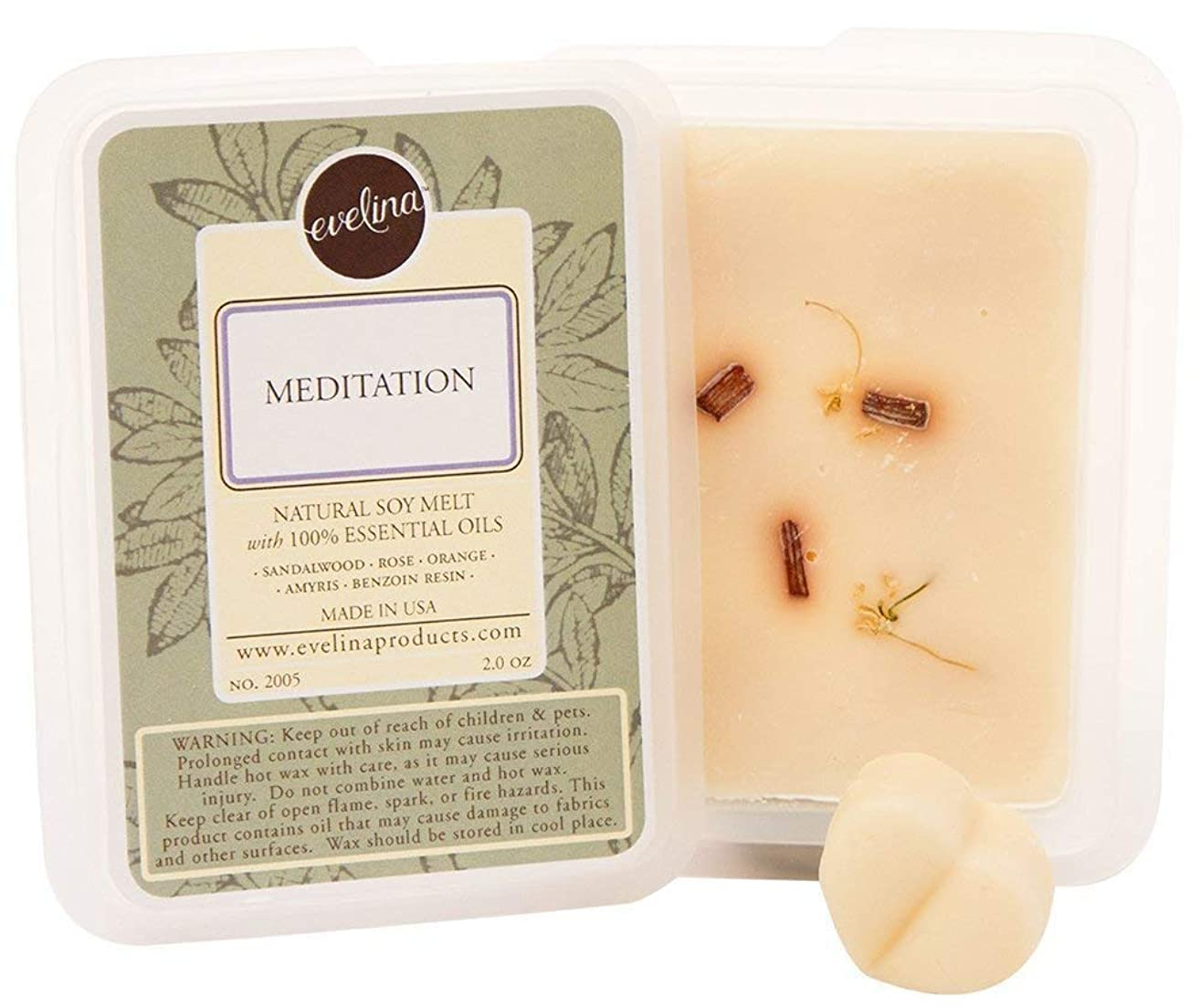 EVELINA Essential Oil Aromatherapy Scent Melts (Meditation)