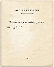 Albert Einstein - Creativity Is Intelligence - 11x14 Unframed Typography Book Page Print - Makes a Great Inspirational Gift and Classroom Decor Under $15