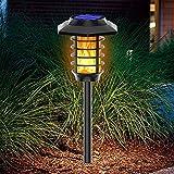 WJHMB Luz Solar Llama de Exterior Luces Antorchas Solares IP65 Impermeable Encendido/Apagado Automático Luces Solares para Terraza, Jardín, Patio, Fiestas, Ruta