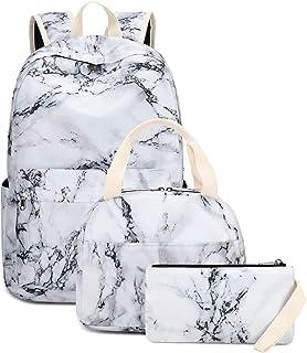 LEDAOU Schulrucksack Mädchen Kinderrucksack Schultasche Teenager Schul Rucksack für Kinder Schultaschen-Sets mit Lunchpake...