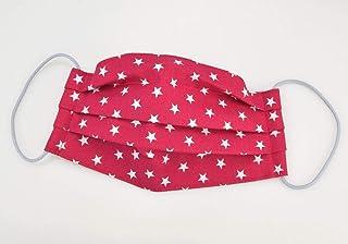 Mund- & Nasenmaske - Sterne Pink Weiß - Baumwollmaske