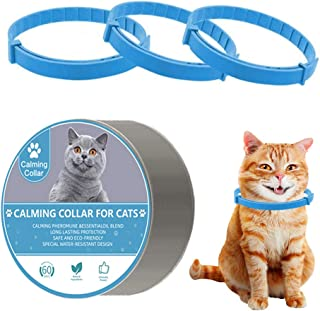 Adjustable Calming Collar for Cats and Kitten, Reduces Relieve Anxiety Pheromone Keep Pet Lasting Natural Calm Protective,...