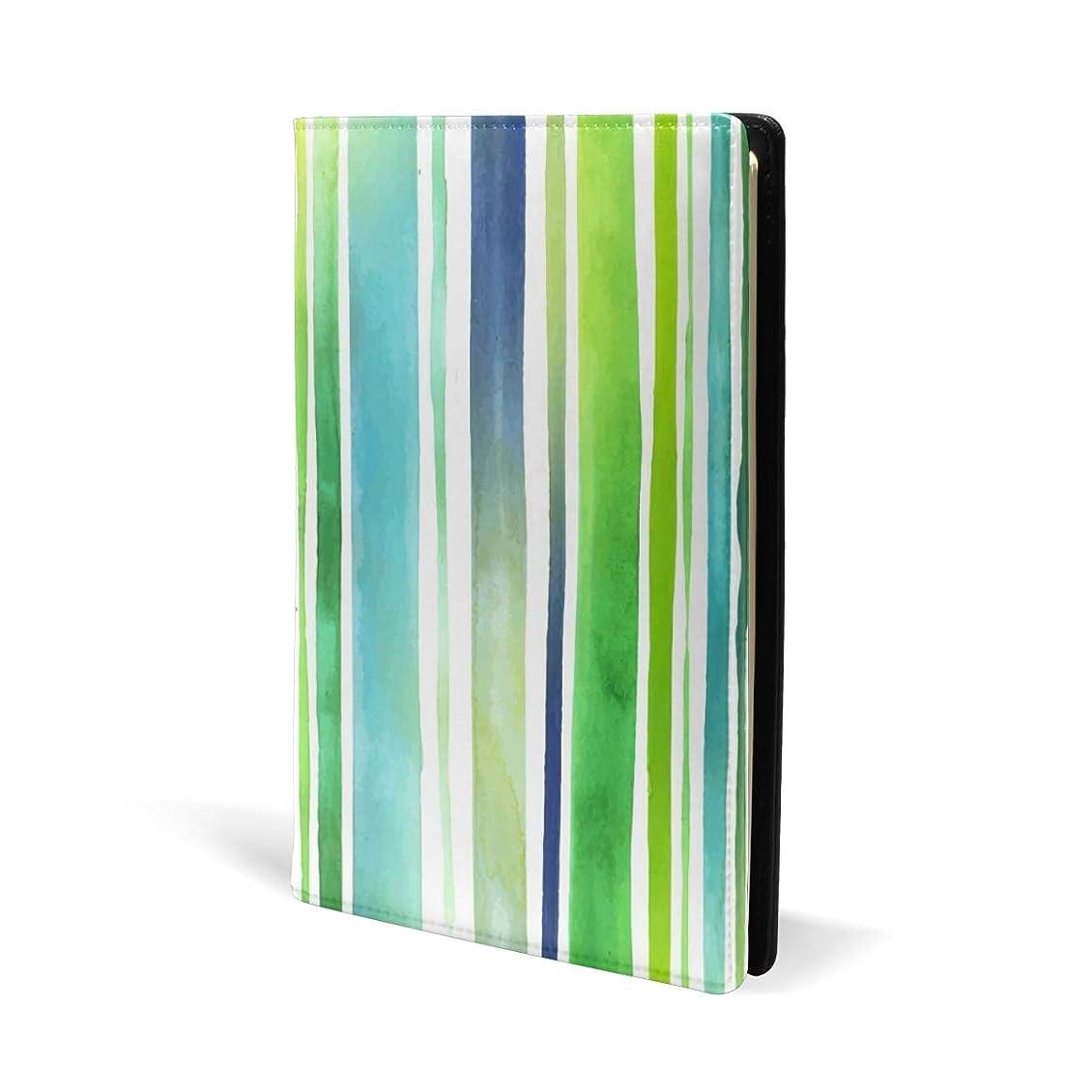 用量許される第二ブックカバー a5 ストライプ きれい 自然 文庫 PUレザー ファイル オフィス用品 読書 文庫判 資料 日記 収納入れ 高級感 耐久性 雑貨 プレゼント 機能性 耐久性 軽量