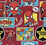 DC Comics - Spiderman in der Box rot - Baumwolle - ab 0,5