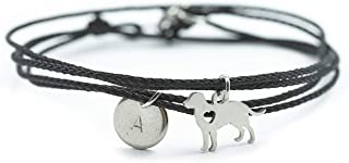 Armband Hund Wickelarmband Edelstahl Gravur schwarz Größe wählbar