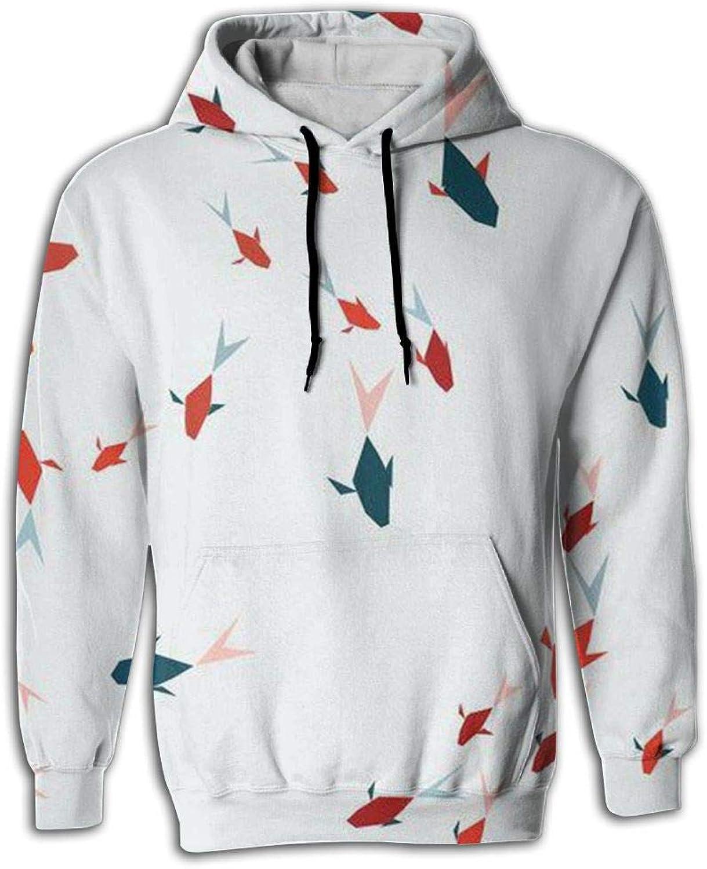 JUNE NI Men's FISHEES Athletic Sweaters Fashion Hoodies Sweatshirts