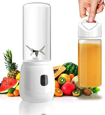 YSSKTC Personal Blender, USB Mini Smoothie Blender - 15 oz Glass Juicer Cup - Blenders for Kitchen - Hand Blender - Portable Blender for Shakes and Smoothies Maker with Travel Sport Bottle