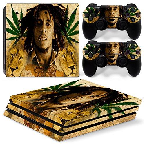 Sony PS4 Playstation 4 Pro Skin Design Foils Aufkleber Schutzfolie Set - Bob Marley Motiv