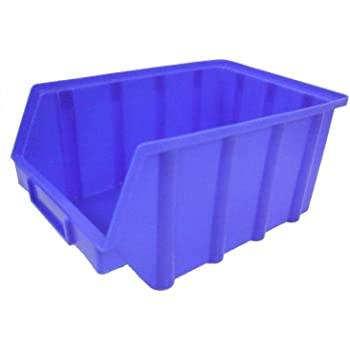 Stapelboxen Gr 3 Schraubenbox Sichtlagerbox Lagerbox blau 12 Stück