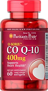 Puritans Pride Q-sorb CoQ10 400 Mg-60 Rapid Release Softgels, 60 Count