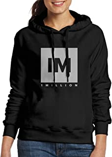003NATIEBNA 1 Million Dance Studio Logo Hooded Sweatshirt Black for Women