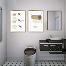 JHCH Cartoon Toilet Paper Nordic Posters and Prints Wall Art Canvas Painting Wall Pictures for Living Room Bathroom Home Decor-40X50Cmx2 Pcs No Frame