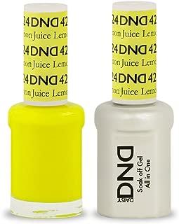 DND Soak Off Gel Polish Dual Matching Color Set 424, Lemon Juice by DND Duo Gel