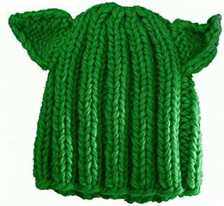 BIBITIME Winter Warm Hat Women's Devil Horn Knitted Hats Cat Ears Knitting Caps
