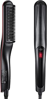 Hair Straightener Brush, LARMHOI Upgraded Hair Straightening Comb with 3 Heat Levels, Auto Off, Frizz-Free, 360 Swivel Cor...