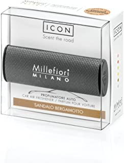 Millefiori Milano 16CAR13 Sandalo Bergamotto Car Air Freshener Icon, Urban Line