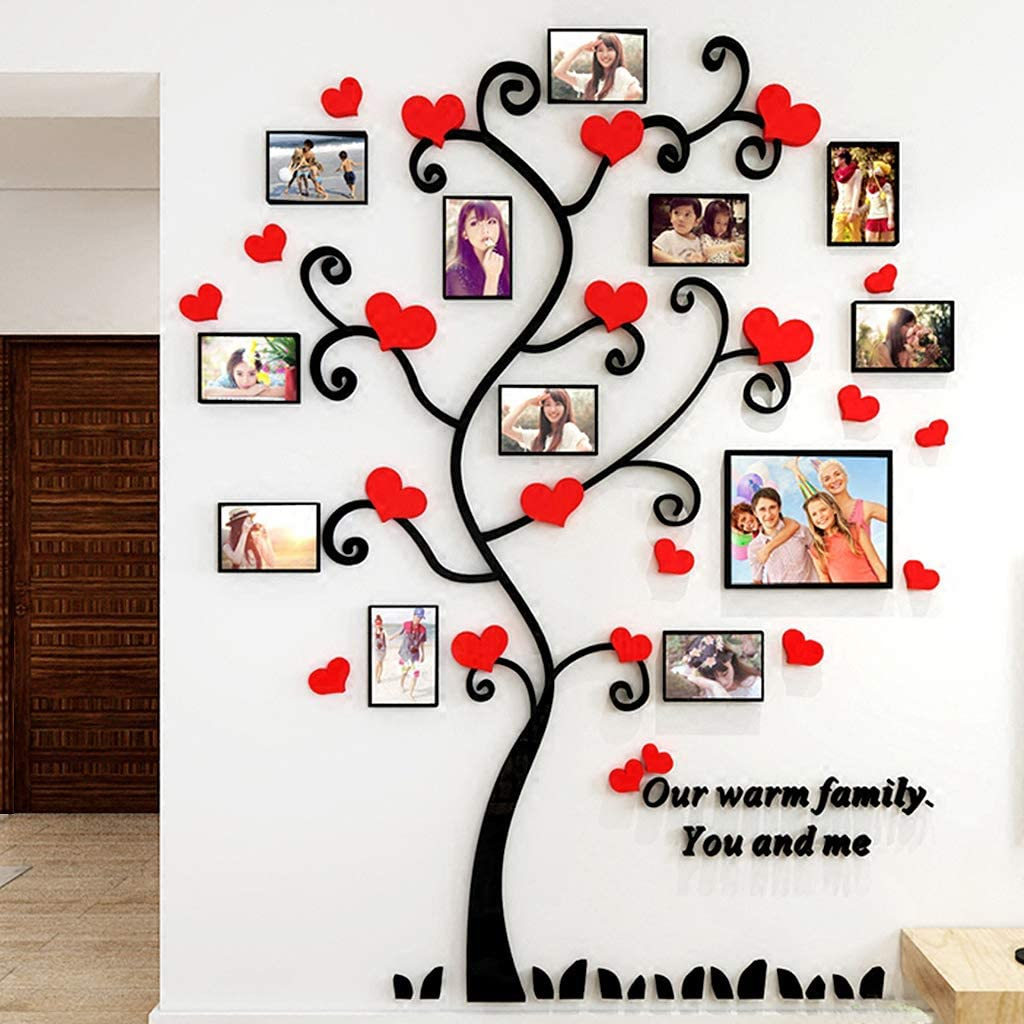 Family Tree with Picture Frames Wall Decals Tree