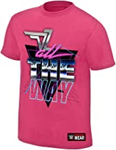 WWE AUTHENTIC WEAR Dolph Ziggler All The Way T-Shirt Pink Small