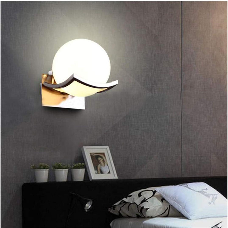 LH-LENORS Einzigartige kreative Metall glaskugel Wandleuchte LED Wandleuchten für durchgang Flur Schlafzimmer nachttischlampe