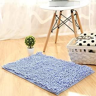 LGXH Soft Absorbent Chenille Carpet Non-Slip Doormat Plush Bath Mat Rug Carpet Floor Rug Indoor Area Rug 1.08'x1.64' Light Purple