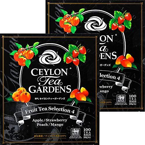 富永貿易 BPL セイロンティーガーデンズ フルーツセレクション ティーバック 100袋 [ 自社農園 ディンブラ茶葉 100% レインフォレスト・アライアンス認証 ] 200g ×2個 ティーバッグ