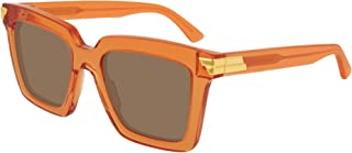 Bottega Veneta BV1005S Orange/Brown 53/21/145 women Sunglasses